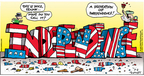 Cartoonist Bob Thaves Tom Thaves  Frank and Ernest 2006-07-02 American flag
