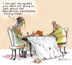 Cartoonist Gustavo Rodriguez  Garrincha's Editorial Cartoons 2011-11-26 dinner table