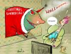 Cartoonist Gustavo Rodriguez  Garrincha's Editorial Cartoons 2013-11-15 Christmas marketing