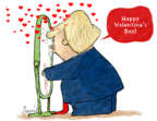 Cartoonist Gustavo Rodriguez  Garrincha's Editorial Cartoons 2018-02-12 Valentine's Day