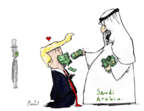 Cartoonist Gustavo Rodriguez  Garrincha's Editorial Cartoons 2018-10-15 Saudi Arabia