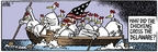 Cartoonist Mike Peters  Mother Goose and Grimm 2007-02-09 crossing Delaware