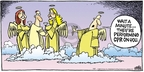 Cartoonist Mike Peters  Mother Goose and Grimm 2008-07-27 attack