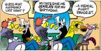Cartoonist Mike Peters  Mother Goose and Grimm 2013-10-13 birthday