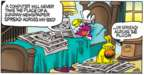 Cartoonist Mike Peters  Mother Goose and Grimm 2018-02-25 newspaper