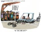 Cartoonist Lee Judge  Lee Judge's Editorial Cartoons 2011-11-18 bicycle