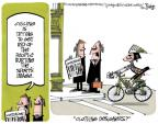 Cartoonist Lee Judge  Lee Judge's Editorial Cartoons 2012-02-11 bicycle