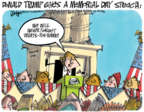 Cartoonist Lee Judge  Lee Judge's Editorial Cartoons 2017-10-25 soldier