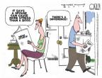 Cartoonist Steve Kelley  Steve Kelley's Editorial Cartoons 2010-07-02 wife