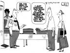 Cartoonist Steve Kelley  Steve Kelley's Editorial Cartoons 2011-06-15 air travel