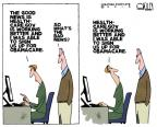 Cartoonist Steve Kelley  Steve Kelley's Editorial Cartoons 2013-12-02 good news