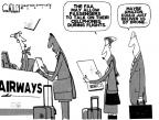Cartoonist Steve Kelley  Steve Kelley's Editorial Cartoons 2013-12-16 air travel