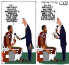Cartoonist Steve Kelley  Steve Kelley's Editorial Cartoons 2016-08-29 freedom of speech