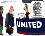 Cartoonist Steve Kelley  Steve Kelley's Editorial Cartoons 2017-04-13 air travel