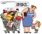 Cartoonist Steve Kelley  Steve Kelley's Editorial Cartoons 2017-10-24 spending cut