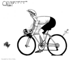 Cartoonist Steve Kelley  Steve Kelley's Editorial Cartoons 2006-08-02 bicycle race