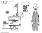Cartoonist Steve Kelley  Steve Kelley's Editorial Cartoons 2006-08-10 war is hell