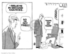 Cartoonist Steve Kelley  Steve Kelley's Editorial Cartoons 2006-12-21 barber shop