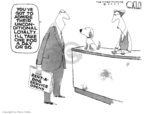 Cartoonist Steve Kelley  Steve Kelley's Editorial Cartoons 2007-07-31 dog