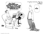 Cartoonist Steve Kelley  Steve Kelley's Editorial Cartoons 2007-08-09 hot