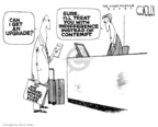Cartoonist Steve Kelley  Steve Kelley's Editorial Cartoons 2007-09-13 air travel