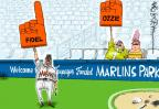 Cartoonist Mike Lester  Mike Lester's Editorial Cartoons 2012-04-12 baseball field