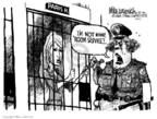 Cartoonist Mike Luckovich  Mike Luckovich's Editorial Cartoons 2007-05-09 punishment