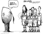 Cartoonist Mike Luckovich  Mike Luckovich's Editorial Cartoons 2007-04-12 basketball