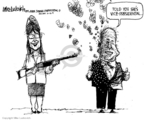 Cartoonist Mike Luckovich  Mike Luckovich's Editorial Cartoons 2008-10-16 McCain Palin