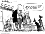 Cartoonist Mike Luckovich  Mike Luckovich's Editorial Cartoons 2009-01-14 retirement