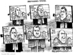 Cartoonist Mike Luckovich  Mike Luckovich's Editorial Cartoons 2009-03-05 punishment