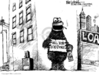 Cartoonist Mike Luckovich  Mike Luckovich's Editorial Cartoons 2009-03-12 Cookie Monster