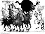 Cartoonist Mike Luckovich  Mike Luckovich's Editorial Cartoons 2009-03-20 herd