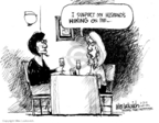 Cartoonist Mike Luckovich  Mike Luckovich's Editorial Cartoons 2009-06-25 marriage