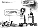 Cartoonist Mike Luckovich  Mike Luckovich's Editorial Cartoons 2009-07-09 debate