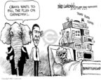 Cartoonist Mike Luckovich  Mike Luckovich's Editorial Cartoons 2009-08-20 euthanasia