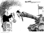 Cartoonist Mike Luckovich  Mike Luckovich's Editorial Cartoons 2009-12-09 surge
