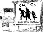 Cartoonist Mike Luckovich  Mike Luckovich's Editorial Cartoons 2010-05-04 immigration sign
