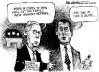 Cartoonist Mike Luckovich  Mike Luckovich's Editorial Cartoons 2010-11-05 George W. Bush economy
