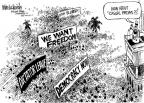 Cartoonist Mike Luckovich  Mike Luckovich's Editorial Cartoons 2011-04-01 civil war