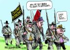 Cartoonist Mike Luckovich  Mike Luckovich's Editorial Cartoons 2011-04-17 civil war