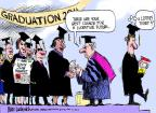 Cartoonist Mike Luckovich  Mike Luckovich's Editorial Cartoons 2011-05-22 graduation