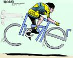 Cartoonist Mike Luckovich  Mike Luckovich's Editorial Cartoons 2011-05-25 bicycle