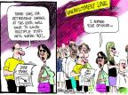 Cartoonist Mike Luckovich  Mike Luckovich's Editorial Cartoons 2011-08-05 retirement