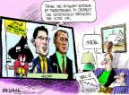 Cartoonist Mike Luckovich  Mike Luckovich's Editorial Cartoons 2011-08-12 financial loss