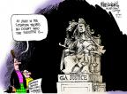 Cartoonist Mike Luckovich  Mike Luckovich's Editorial Cartoons 2011-09-21 punishment