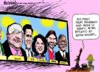 Cartoonist Mike Luckovich  Mike Luckovich's Editorial Cartoons 2011-09-28 debate