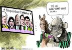 Cartoonist Mike Luckovich  Mike Luckovich's Editorial Cartoons 2011-10-19 debate