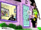 Cartoonist Mike Luckovich  Mike Luckovich's Editorial Cartoons 2011-11-03 basketball