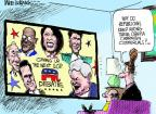 Cartoonist Mike Luckovich  Mike Luckovich's Editorial Cartoons 2011-11-09 debate